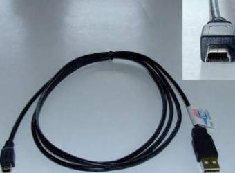 Cablu Casio USB A - B mini (5) 180 cm Negru Cabluri Periferice