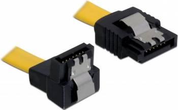 Cablu Date Delock Sata 3 la Sata 3 30 cm Galben Cabluri Componente