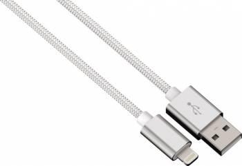 Cablu Date Hama Lightning ColorLine 1m Alb Cabluri telefoane mobile