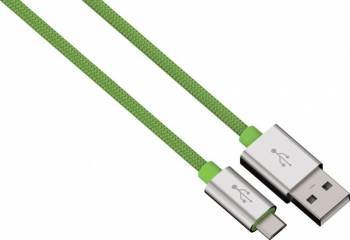 Cablu Date Hama microUSB ColorLine 1m Verde Cabluri telefoane mobile