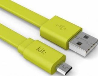 Cablu de date Kit Fresh - Micro USB LED Verde
