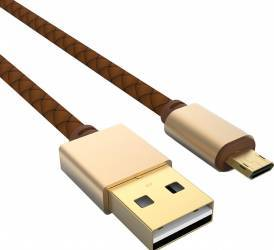 Cablu de date Ldnio micro usb 1.2m, Maro Cabluri telefoane mobile
