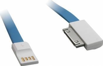 Cablu de date Vojo iMagnet 3 iPhone 4 0.2m Albastru