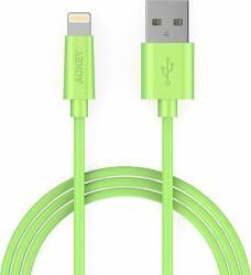 Cablu de date/incarcare Aukey CB-D20 pentru Apple Verde 1m Cabluri telefoane mobile