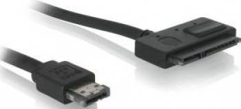 Cablu Delock eSATA la SATA 22PIN 1m Cabluri Componente