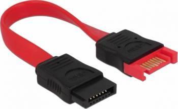 Cablu Delock Extensie SATA3 M-T 10cm Rosu Cabluri Componente