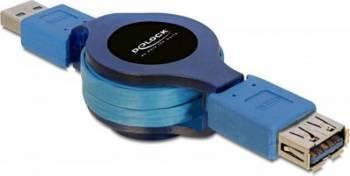 Cablu Delock Extensie USB 3.0 retractabil T-M 1m Cabluri Periferice