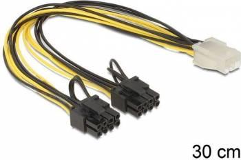 Cablu Delock PCI Express 6 pin la 2x8pin Cabluri Componente
