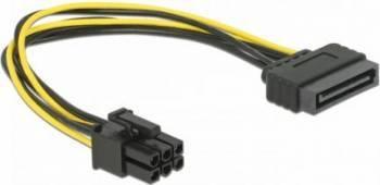 Cablu Delock SATA 15 pin la PCI Express 6 pin Cabluri Componente