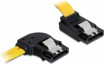 Cablu Delock SATA III stanga - sus cu fixare 50cm Cabluri Componente