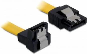 Cablu Delock SATA2 drept-unghi cu fixare 10cm Cabluri Componente
