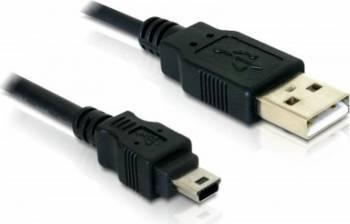 Cablu Delock USB 2.0 tata la miniUSB 1.5m Cabluri Periferice