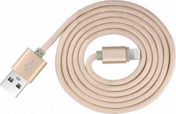 Cablu Devia Lightning Fashion MFI Champagne Gold Cabluri telefoane mobile