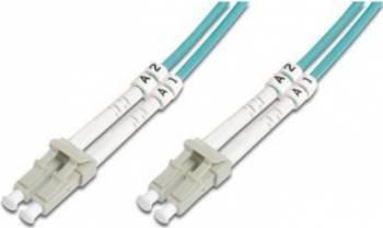 Cablu Fibra Optica Multimodal Digitus LC-LC Duplex OM3 1m Cabluri Retea