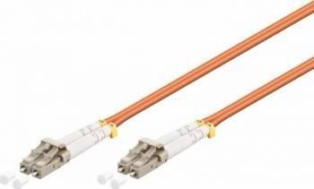 Cablu Fibra Optica Multimodal Equip LC-LC Duplex 50/125 OM3 0.5m Portocaliu Cabluri Retea