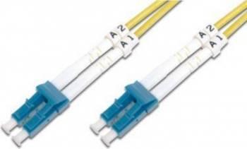 Cablu Fibra Optica Unimodal Digitus LC-LC Duplex SM 9/125 3m Cabluri Retea