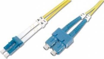 Cablu Fibra Optica Unimodal Digitus LC-SC Duplex SM 9/125 3m Cabluri Retea