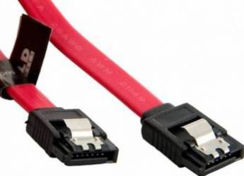 Cablu HDD 4World SATA3 20cm blocare rosu
