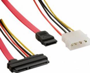 Cablu HDD 4World SATA3 45cm Rosu Cabluri Componente