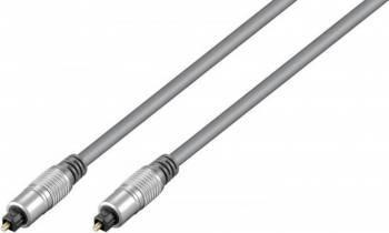 Cablu Hometheater optic Toslink 10m Gri Cabluri Audio