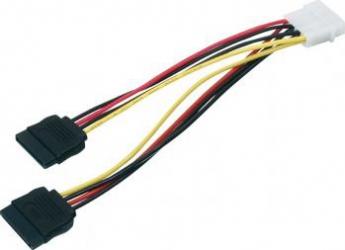 Cablu Inter-Tech 1 x Molex la 2 x SATA