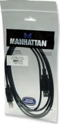 Cablu Manhattan Hi-Speed USB 2.0 A Male - B Male 1.8 m