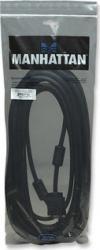 Cablu Manhattan SVGA HD15 Male HD15 Male 10 m Ferrite Core Cabluri TV