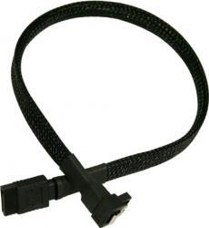 Cablu Nanoxia SATA3 30cm Sleeving Negru
