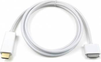 Cablu OEM HDMI la Apple dock connector 1.8m , Alb Cabluri Video