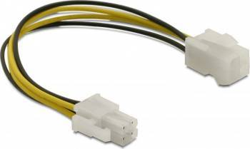 Cablu prelungitor alimentare P4 T-M Delock 15cm Cabluri Componente