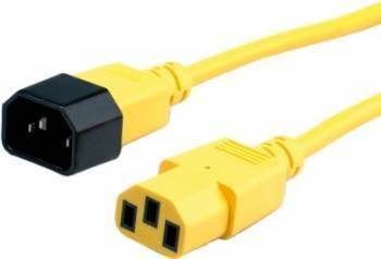 Cablu prelungitor alimentare Roline 1.8m Galben Cabluri Componente