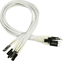 Cablu prelungitor panou frontal Nanoxia 30cm Single Sleeve White