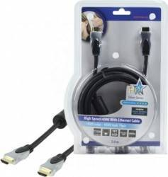 Cablu profesional HDMI 1.4 19pin Tata <-> HDMI 1.4 19pin Tata 3.0M,HQ; Cod EAN: 5412810139422 Cabluri Video