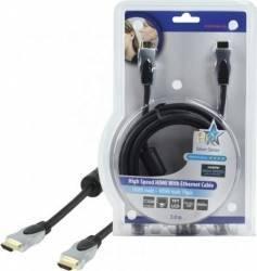 Cablu profesional HDMI 1.4 19pin Tata <-> HDMI 1.4 19pin Tata 3.0M,HQ; Cod EAN: 5412810139422 Cabluri Video
