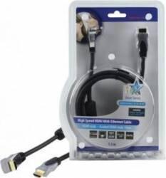 Cablu profesional HDMI 1.4 19pin Tata -RA 19pin Tata 1.5M,HQ Cabluri Video