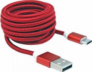 Cablu SBOX USB-10315 microUSB 1.5m Rosu Cabluri telefoane mobile