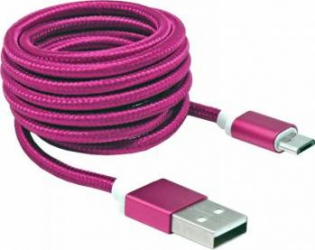Cablu SBOX USB-10315 microUSB 1.5m Roz Cabluri telefoane mobile