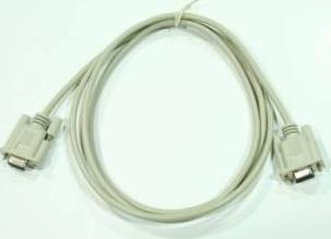Cablu Serial Null Modem 9 mama - 9 mama 200 cm Alb Cabluri Componente