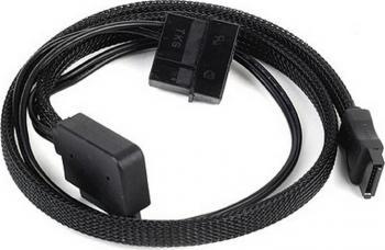 Cablu Silverstone slim-SATA la SATA Conector lateral 90 Grade