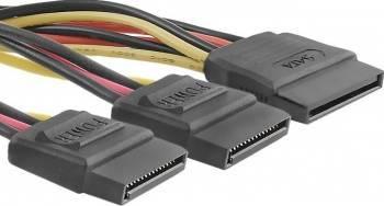 Cablu splitter Qoltec SATA la 2xSATA 20cm Cabluri Componente