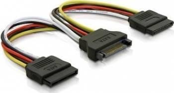 Cablu splitter Qoltec SATA la 2xSATA 50cm Cabluri Componente
