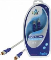 Cablu standard Rca tata - Rca tata 75Ohm 1.5M HQ Cabluri TV