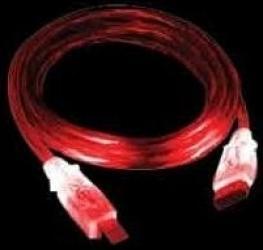 Cablu SunBeam USB 2.0 cu LED Rosu Cabluri Periferice