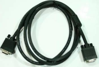 Cablu SVGA 15p tata - 15p tata 200 cm Negru Cabluri Video