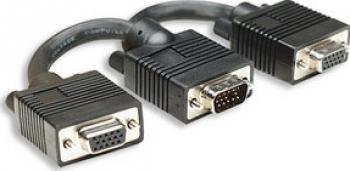 Cablu SVGA Y Manhattan HD15 Tata 2 HD15 Mama 15cm Cabluri TV