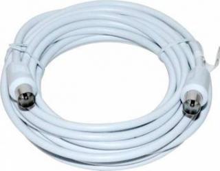 Cablu TV Vakoss Coaxial (antenna) 2x M TC-A755W 5m Alb Cabluri TV