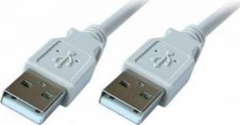 Cablu USB 2.0 A - A 180 cm Alb Cabluri Periferice
