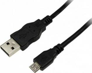 Cablu USB 2.0 la MicroUSB Logilink CU0060 5.0m Negru Cabluri telefoane mobile