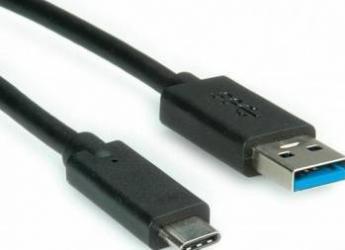 Cablu USB 3.1 C - 3.0 A 50 cm Negru Cabluri Periferice