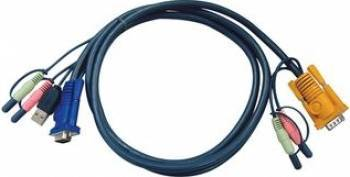 Cablu USB KVM Aten 2L-5302U 3 IN 1 SPDH 1.8m Accesorii KVM